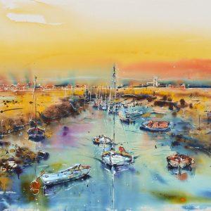 Sailing as the sun sets - Rachael Dalzell