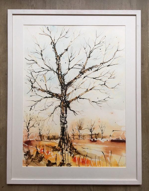 Lonesome oak - framed