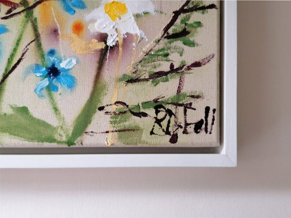 Natures sweet serenity - Signature and Frame