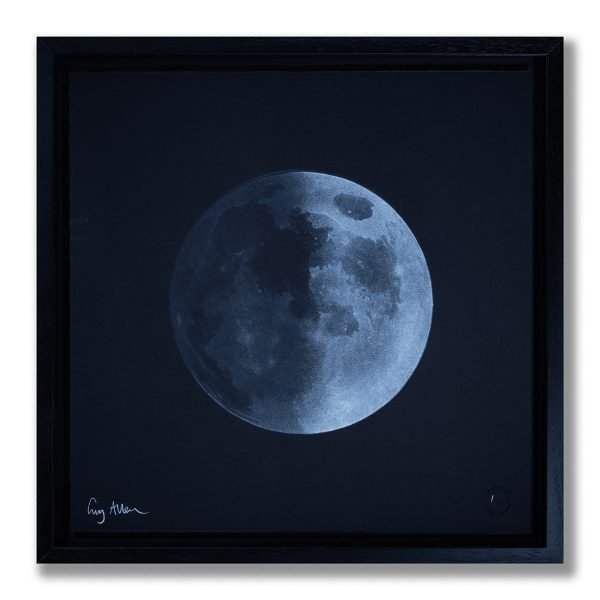 Waxing Quarter Moon - Framed