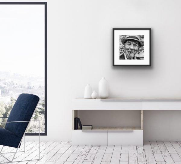 """20"""" x 16"""" El caballero - framed hanging in a room"""