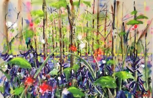 Bluebell wood painting by Rachael Dalzell