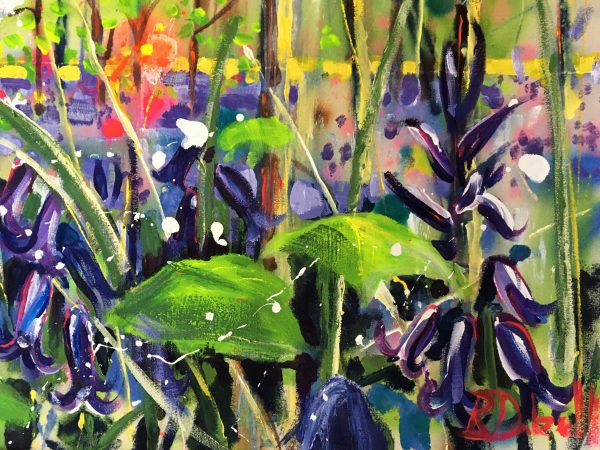 Bluebell wood by Rachael Dalzell - Detail and Signature