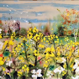 May in the Meadows a painting by artist Rachael Dalzell