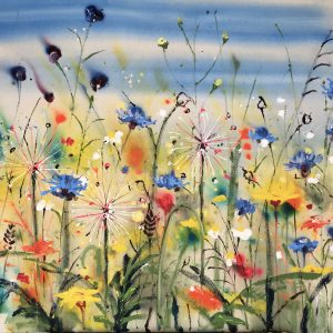 A walk through the wildflowers painting by Rachael Dalzell