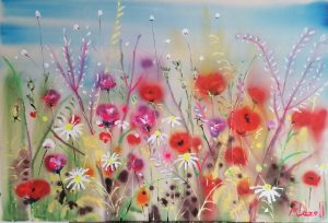 Daisies and poppies by Rachael Dalzell