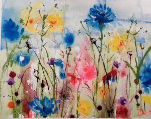 Field of flowers by Rachael Dalzell