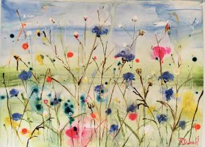 Colours of summer a painting by Rachael Dalzell