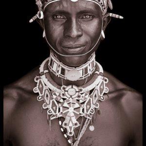 Kakuwsa. A portrait photograph by John Kenny of a Rendille man from Kenya