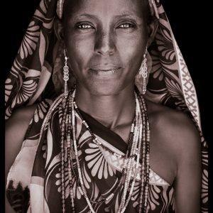Madina. A portrait photograph by John Kenny of a Gabbra woman from Kenya
