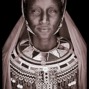 Merayun. A portrait photograph by John Kenny of a Rendille woman from Kenya
