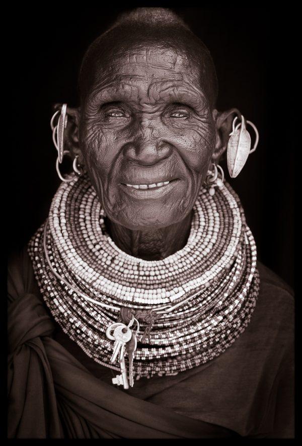 Nganamya. A portrait photograph by John Kenny of a Turkana woman from Kenya